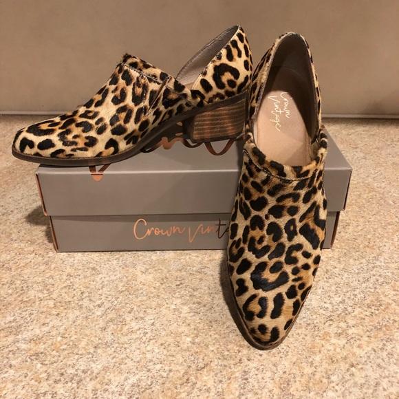 Cute leopard shoes- real calf hair